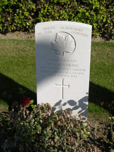 "William Love Rankine ""Buried Elsewhere in the Cemetery"". Dieppe Canadian War Cemetery. (P. Ferguson image, September 2009)"