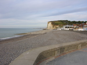 The beach at Pourville. (P. Ferguson image, September 2009)