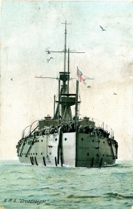 The stern of HMS Dreadnought.