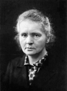 Madame Marie Curie. (Wiki image)