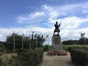 Black Watch statue by Alan Herriot, Black Watch Corner, near Polygon Wood, Belgium. (P. Ferguson image, August 2018)