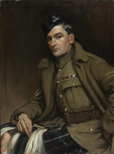 William Metcalf VC, MM and Bar of the 16th Battalion CEF (The Canadian Scottish) by Kenneth Forbes. Beaverbrook Collection of War Art, Canadian War Museum. (Wiki Image)