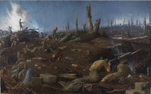 The Defence of Sanctuary Wood. Beaverbrook Collection of War Art, Canadian War Museum (Wiki Image)